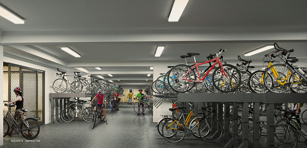 Westwood Residences  Secured-Covered-Bike-Garage_1000