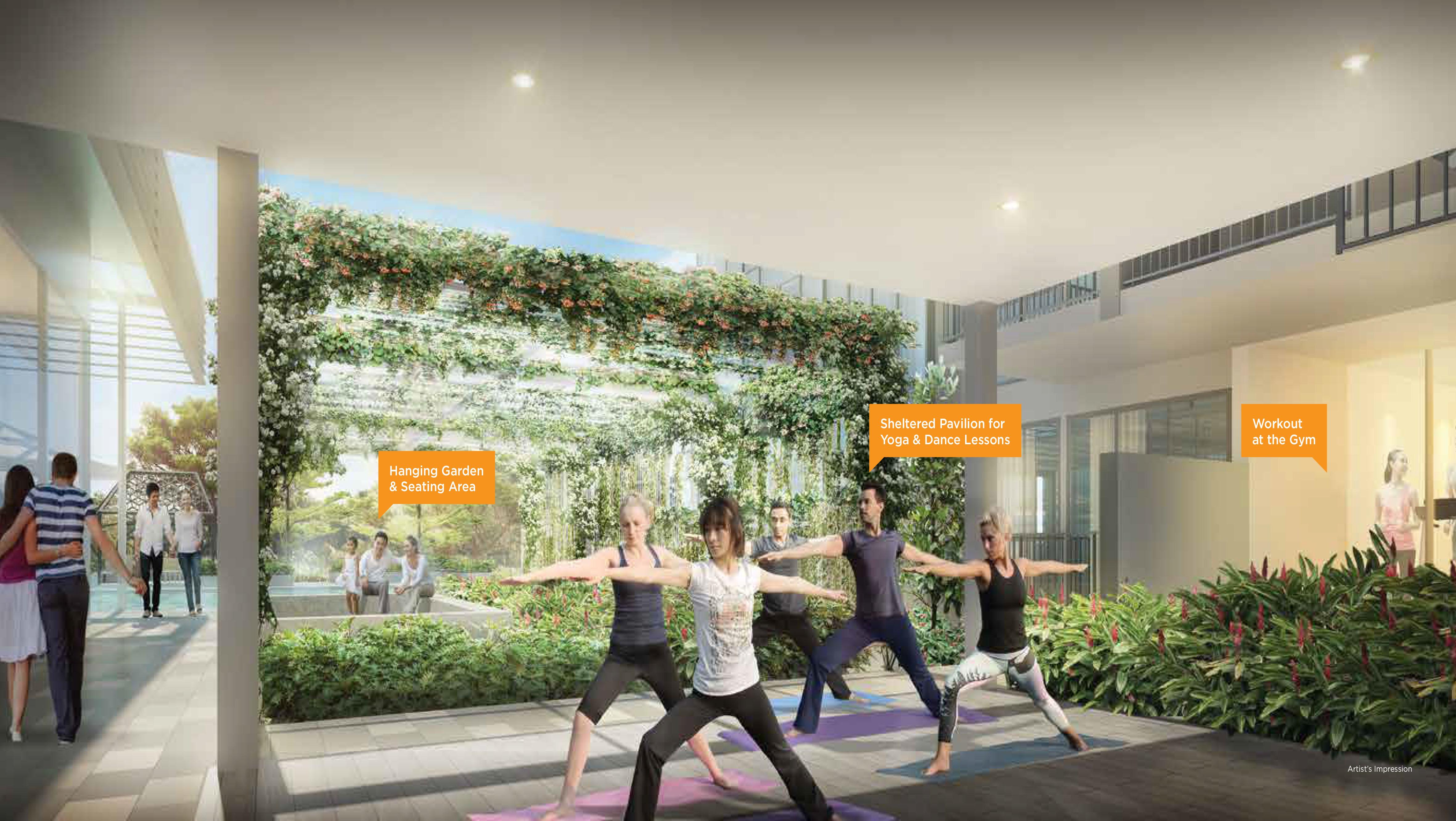 Gem Residences yoga deck