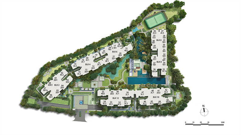 Park Colonial Site Plan