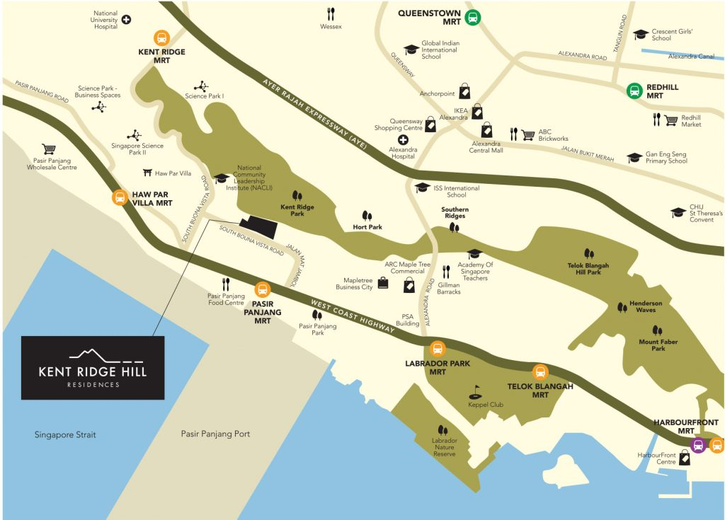 Kent Ridge Hill Residences Location Map