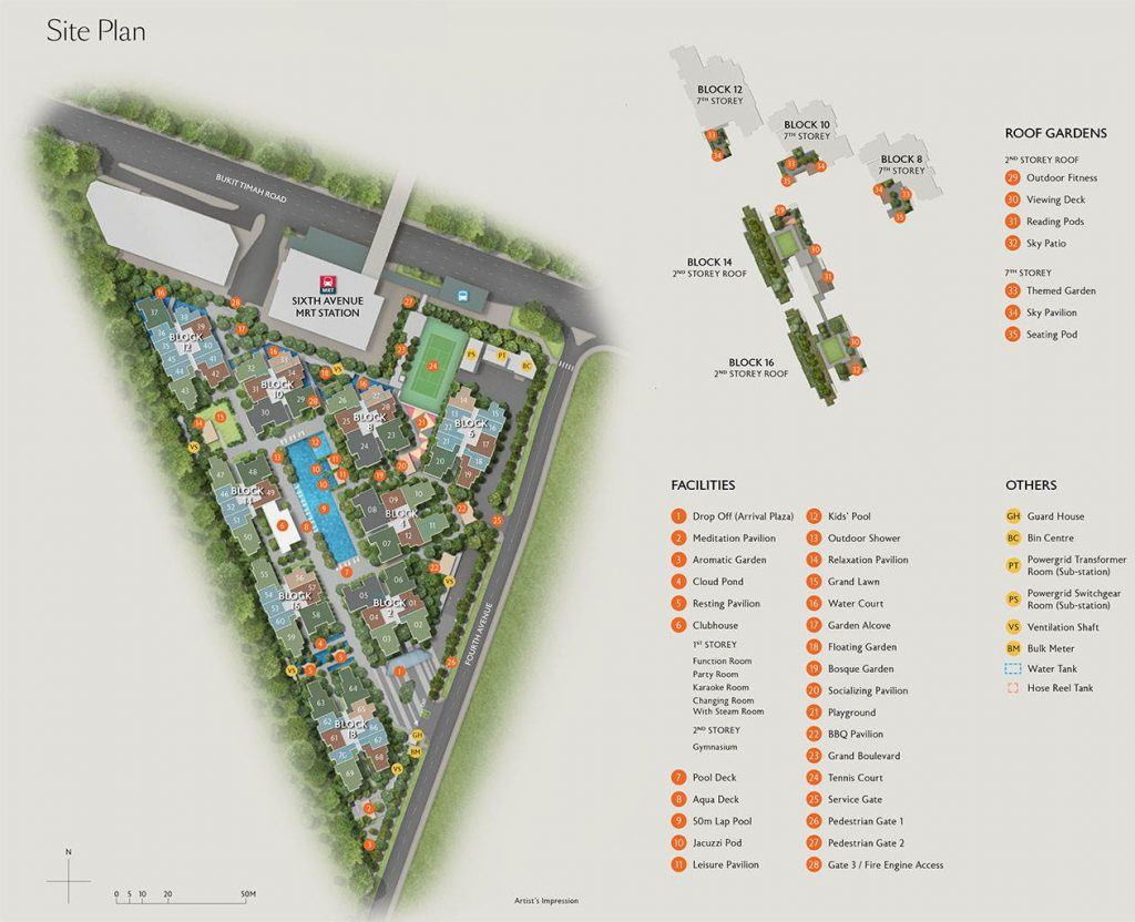 Fourth Avenue Residences siteplan